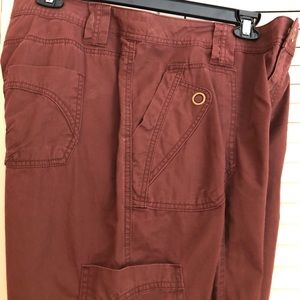 LANE BRYANT RUST COLORED CARGO SHORTS SIZE 16